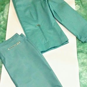 Newport News Teal Leather Suit